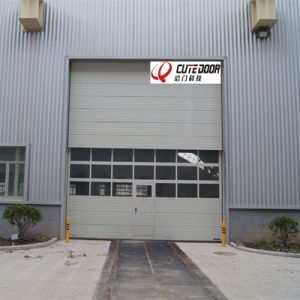 Galvanized Steel Automatic Sectional Vertical Sliding High Speed Door pictures & photos