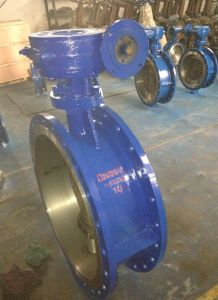 DIN Flanged Connected Butterfly Valve with Gear Operate D343h-16c pictures & photos