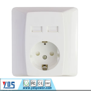 USB Wall Socket with Round Bottom, Germany Plug Only pictures & photos