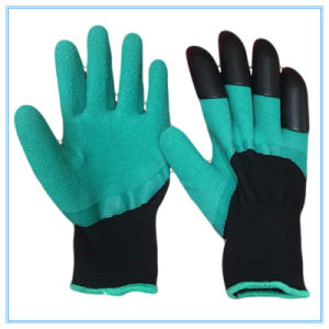 Latex Foam Coated Garden Planting Digging Gloves pictures & photos