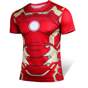 Men′s Tights Iron Man Printing Sport T-Shirt Dress