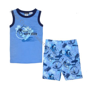 Boy′s Tank Top with Short Pant Fashion Pajamas