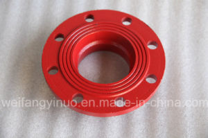 Ductile Iron Grooved Adaptor Flange with International Standard Dimensions (FM/UL/CE) Pn16 ANSI Class 150 pictures & photos