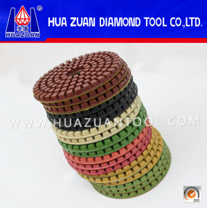 Colorful Rubber Backer Pad Diamond Polishing Pads for Stone From China pictures & photos