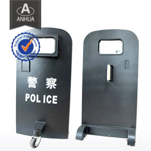 Professional Military Police Bulletproof Shield with Wheels pictures & photos