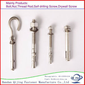 Made in Handan Products Yellow Zinc Plated Chemical Expansion Anchor Bolt pictures & photos