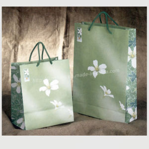 Brown Kraft Paper Grocery Shopping Bag/ Custom Printing Handle Bag pictures & photos