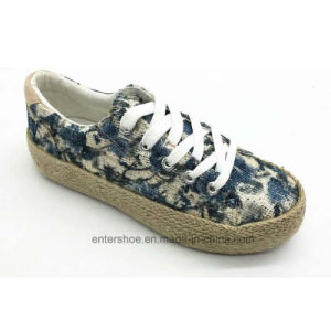 Leisure Jute Sole Floral Women Footwear Shoes (ET-FEK170452W) pictures & photos