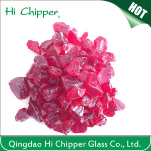 Crushed Red Glass Chips pictures & photos