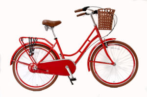 "Lady Bicycle 26"" Stee Frame City Bike with Basket and Rear Carrier Belt (HC-CT-2603) pictures & photos"