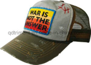 Distress Grinding Washed Patch Embroidery Leisure Trucker Hat (TMT1967) pictures & photos