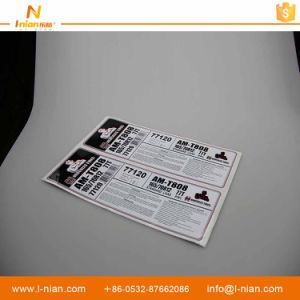 Custom Print Waterproof Durable Adhesive PP Rubber Tyre Sticker pictures & photos