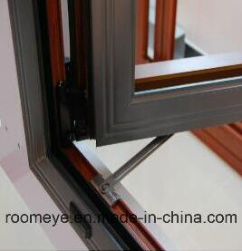 New Design Hot Sale Wood Color Aluminum Casement Window with Grill for Commercial and Residential with Ex-Factory Price (ACW-015) pictures & photos