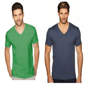 V-Neck Advertising Plain T-Shirts pictures & photos