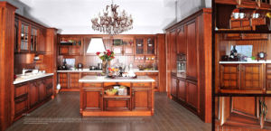 America Style Solid Wood Kitchen Cabinets (Br-SA04A-B) pictures & photos