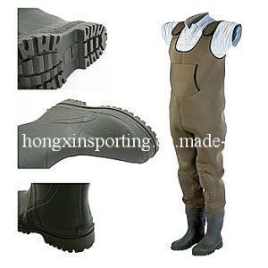 Neoprene Waterproof High Chest Fishing Wader (HX-FW0002) pictures & photos