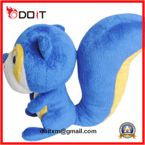 Plush Toy Claw Maching Plush Toy Blue Squirrel Plush Toy pictures & photos
