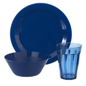 Melamine Plate, Bowl and Tumbler Dinnerware Set Blue pictures & photos