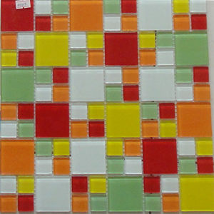 China Colorful Elegant Crystal Glass Mosaic Tiles in Factory pictures & photos