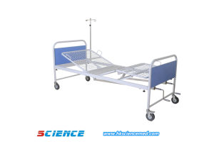 Simple Cheap Price Manual Hospital Bed with Two Functions pictures & photos