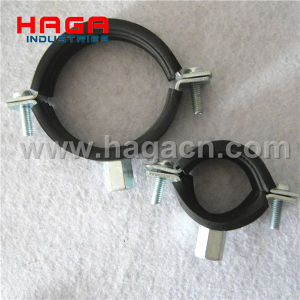 DIN 4019 Zinc Plated Steel Rubber Lined Split Clamps pictures & photos