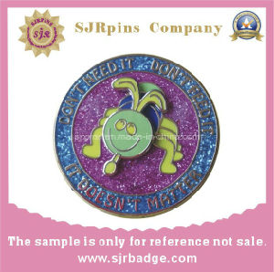 Factory Manufactory Lapel Pin, Glitter Badge pictures & photos