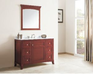 Hot Sale Solid Wood Bathroom Cabinet (DS07) pictures & photos