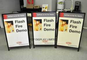 a Frame Sidewalk Signs Portable Sidewalk Curb Sign Frames and Affordable Sign pictures & photos