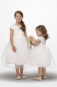 Spaghetti Straps With Ruffles Popular Flower Girl Dresses (Z-010)