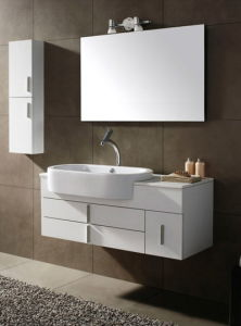 Popular Solid Wood Bathroom Vanity Ca-M130 pictures & photos