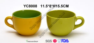 Large Soup Mug Two Tone Color
