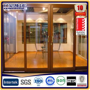 Aluminium Sliding Door with Heavy-Duty Smooth Roller pictures & photos