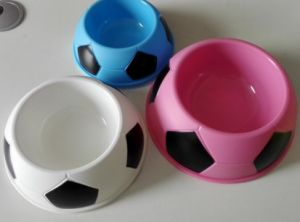 Single Color Soccer Five Line Plastic Single Bowl Small-Sized Mea pictures & photos