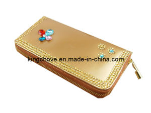 Fashion Lt. Camel PU with Beaded Wallet / Fashion Wallets (KCW23) pictures & photos