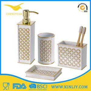 Cheap Modern Design Ceramic Bathroom Accessory Bath Set for Gift pictures & photos