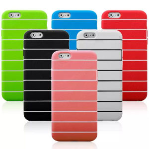 for iPhone 6 Plus Strip TPU Case pictures & photos