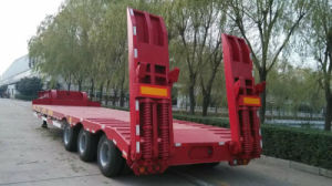 3 Line 6 Axle Low Bed Semi Trailer pictures & photos