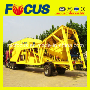 Semi Trailer Mini Mobile Batching Plant with 35m3 Capacity pictures & photos