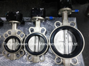 5k/10k/150lb Stainless Steel Wafer Butterfly Valve with Gear Operator pictures & photos