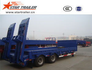 2 Axles Heavy Transport Low Boy Semi-Trailer pictures & photos