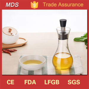 Borosilicate Glass Oil Sauce Bottle/Condiment Bottle with Stainless Steel Cap pictures & photos