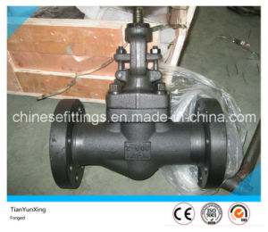 Hand Wheel Carbon Steel A105n Flange API Forged Globe Valve pictures & photos