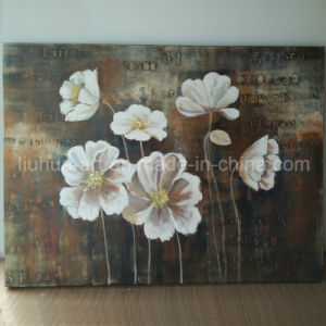 Spring White Flower Classic Painting on Canvas (LH-245000) pictures & photos
