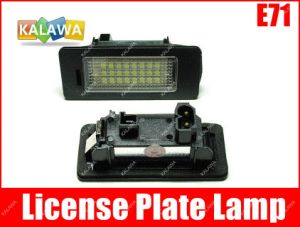 One Pair X Series E71 LED Car License Plate Light Lamp 24SMD Fit for B. M. W 030109 1A ^Jmq