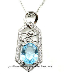 Good Quality and AAA CZ Jewelry 2015 Wholesale Silver Jewelry Pendant P4978 pictures & photos