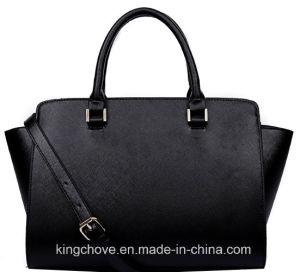 Latest Fashion Cross Black PU Ladies Handbag (KCH149) pictures & photos