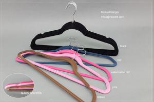 Wholesale Colored Velvet Hanger, Cheap Plastic Hanger, Clothes Hanger pictures & photos