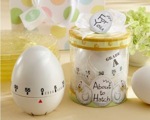 "About to Hatch"" Kitchen Egg Timer in Showcase Gift Box Wedding Gifts Giveaway Centerpieces Accessories Supplies Kitchenware Gift"