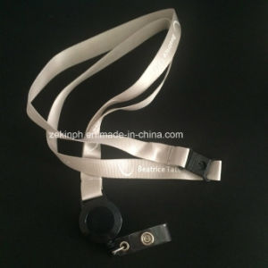 Cheap Plain Woven Lanyard with Custom Logo pictures & photos