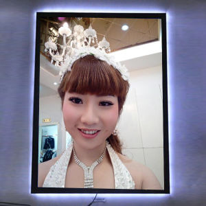 Single Side Frameless Crystal Acrylic Frame LED Slim Magnetic Light Box pictures & photos